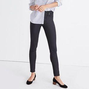 "Madewell 9"" high riser skinny skinny black jeans"
